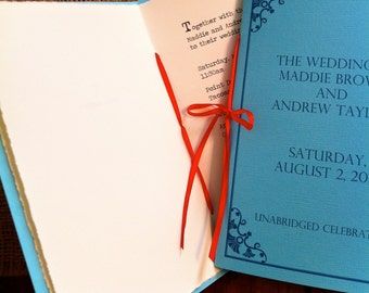 Library Book Wedding Invitations / Literary Wedding (sample)