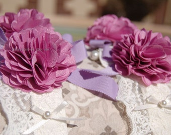Beautiful handmade dog  leash .weddings dog leash,Birthday's gift. cute Lavender flowers dog leash,dog wedding leash,Very cute gift for dog