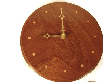 Handmade exotic wood clock