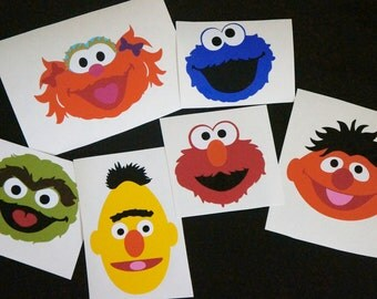 Sesame Street Inspired Party Vinyl Decal Stickers