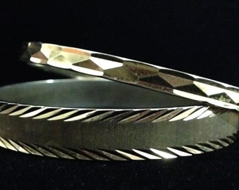 Monet Gold Tone Bracelets (2)