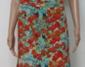 Flamenco costume. Flamenco Skirt.  Multicolor Floral .