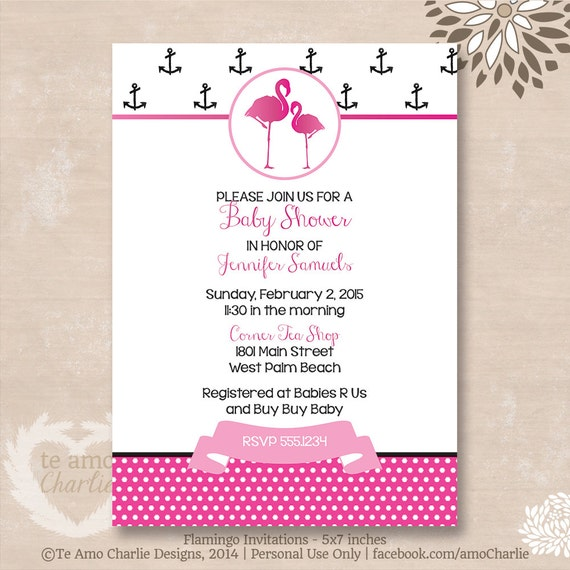 flamingo baby shower invitations pink and black flamingo themed baby