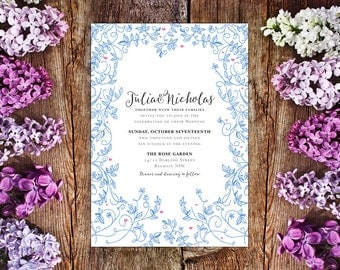 Wedding Invite – Vines Printable Wedding Invitation Suite