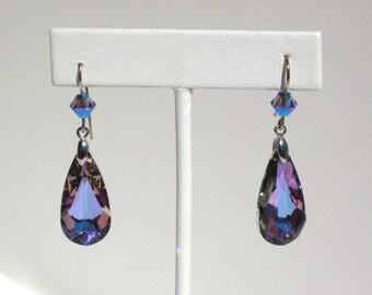 swarovski  crystal earrings     vitral light