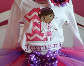 Personalized Doc Mcstuffins Birthday tutu outfit