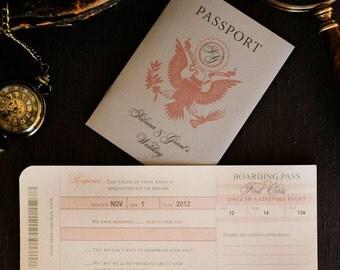 Passport Wedding Invitation // Boarding Pass Invitation // Destination Wedding Invitation