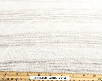 Ivory Stripe Trail Sweater Knit Fabric - 1 Yard Style 6453