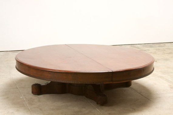 Large Round Coffee Table By Fortgoods On Etsy