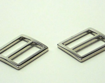 2pcs of Silver 1 Inch Purse Slides 2 One Inch Strap Adjustors Purse Hardware Supplies at MeiMei Supplies Ready to Ship from USA