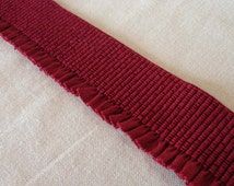 Decorative elastic trims-Burgundy elastic, teal elastic