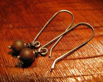 Picasso Jasper and Sterling Silver Earrings Handmade/Hand Forged  Dangle Earrings-ToniRaeCreations