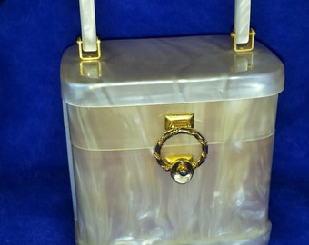 Stylecraft of Miami pearlescent lucite purse
