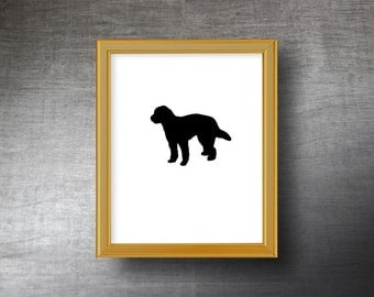 GoldenDoodle Art 8x10 - UNFRAMED Die Cut GoldenDoodle Print - Personalized Text Optional