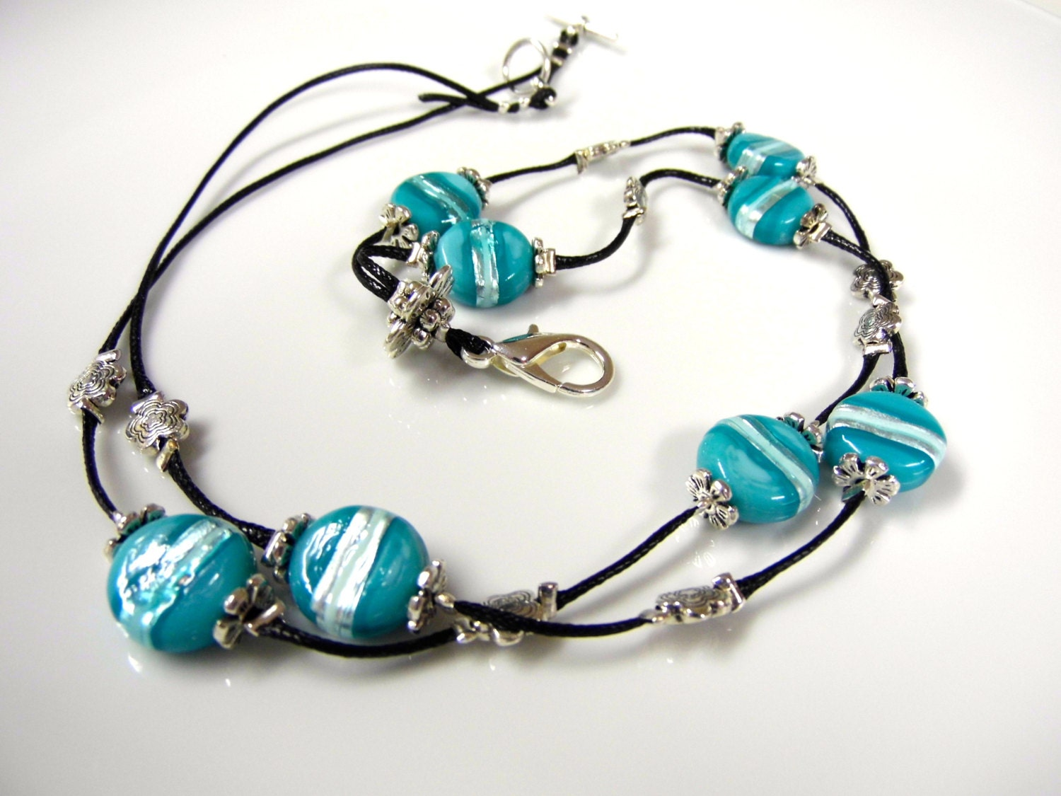 teal coloured lanyard necklace for work pretty fashion