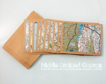 Map / Atlas - Note Card Set