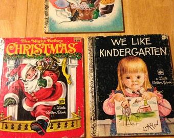 Three older Little Golden books