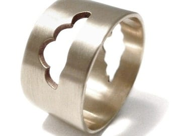 Cloud Ring in Sterling Silver