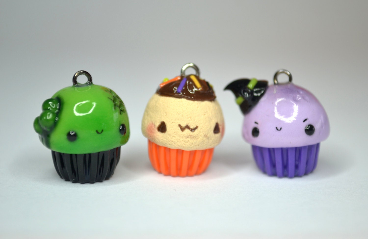 snap halloween cupcake polymer clay charms photos on pinterest