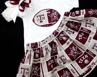 Texas A&M girl's 3pc bodysuit set