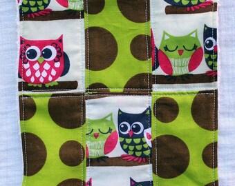 Set of 2 - Owls Washcloths