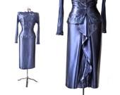 1940s Dress / 1940s Suit / Sequin  Silk Suit / 40s Skirt Suit / 1940s Dress Suit / Womens Clothing Suits / Vintage Clothing Formal