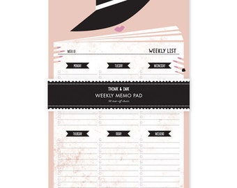 Incognito Weekly Memo Note Pad