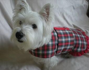 Olivia Exclusive Design Tartan Harness coat with Ruffles