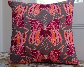 Tina Givens for Free Spirit Havens Edge Butterfly cushion cover/pillow 45cm or 18inches