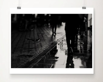 cambridge photograph street photography black and white photography abstract art water reflections print rain photograph
