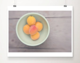 apricot photograph kitchen wall art food photography fruit photograph apricot print apricot home decor food print summer photograph