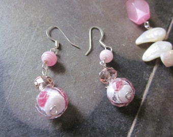 Sparkly Pink Crystal Earrings