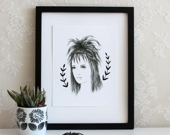 Lydia Deetz Beetlejuice Halloween 5x7, 8x10, or 11x14 Wall Art Print, Poster, Drawing
