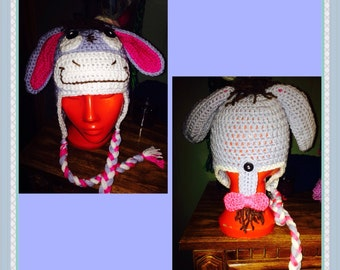 Eeyore inspired donkey hat