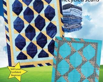 PDF DOWNLOAD- Peekaboo Butterfly Denim Quilt Pattern