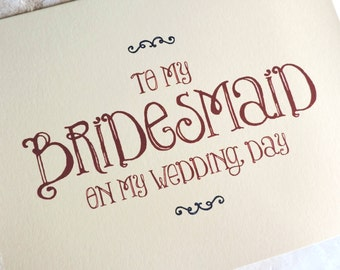 13 Will You Be My Bridesmaid Personalized Cards Whimsical
