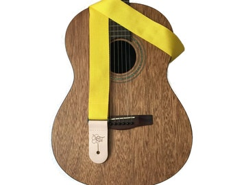 Yellow Lightweight Poly Guitar Strap - 2""
