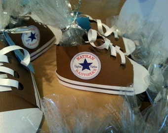 Converse all star themed paper party favor shoe, baby shower, birthday party or any occasion party favor