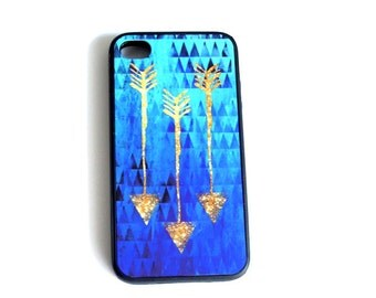 Gold Arrow iPhone 5s, BlueOmbre Gold iphone 6, Tribal iPhone 5 Case, iPhone 4 Case, iPhone 4s Case, Samsung Galaxy s4 s3,  iPhone Cover