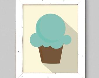 Cupcake Art Print - 8x10