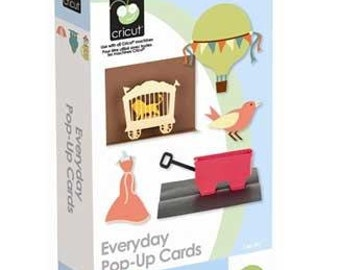 Everyday Pop Up Cards, NEW Cricut Cartridge