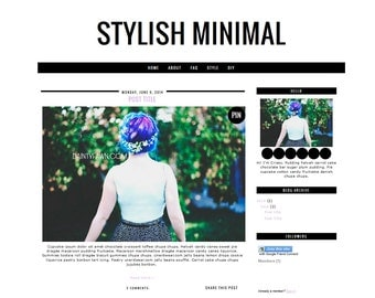 Stylish Minimal Blogger Template, Premade Blogger Template, Fashion Blogger Template, Simple Blog Template, Stylish Premade Blogger Layout