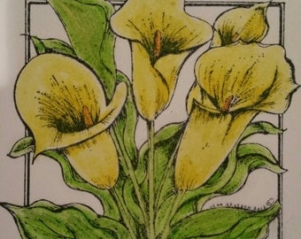 Northwood Calla Lillies in Yellow