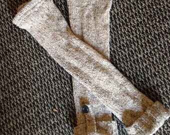 Recycled Upcycled Refashioned Repurposed Tan Leg Warmers from a Sweater