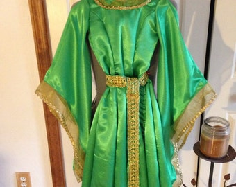 Queen Elinor Disney Brave Childs Dress, Renaissance, Celtic, Fairy Festivals Custom Order Size 2t to Size 10 girls any larger is Womens Size