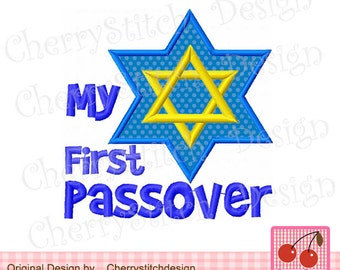 My First Passover,Passover Digital Embroidery Appliqque -4x4 5x7 6x10-Machine Embroidery Applique Design