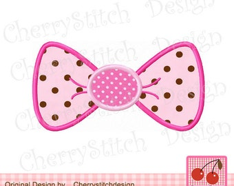 Bow Machine Embroidery Applique Design -4x4 5x7 6x10 hoop