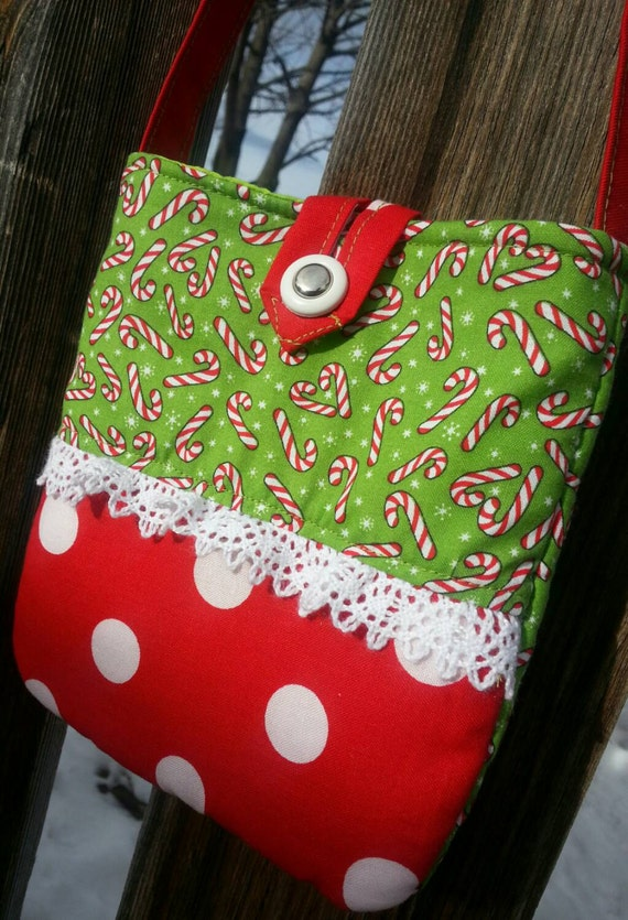 Toddler Christmas Purse, Little Girl's Candy Cane Purse