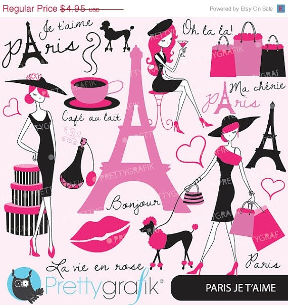 80 off sale paris fashion clipart for scrapbooking - Boutique scrapbooking paris ...