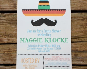 Mexican Fiesta Baby Shower, Wedding Shower or Party Invitation
